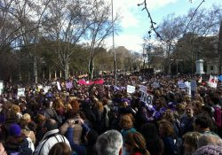 1 de febrero en Madrid: Decenas de miles de mujeres llenamos las calles ¡Gallardón, dimisión!