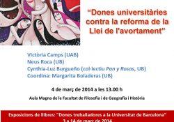 Acto central de la Universidad de Barcelona sobre la Ley del Aborto del PP