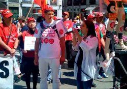 Saludo solidario de Pan y Rosas a lxs trabajadorxs de Coca Cola (17 de abril 2014)