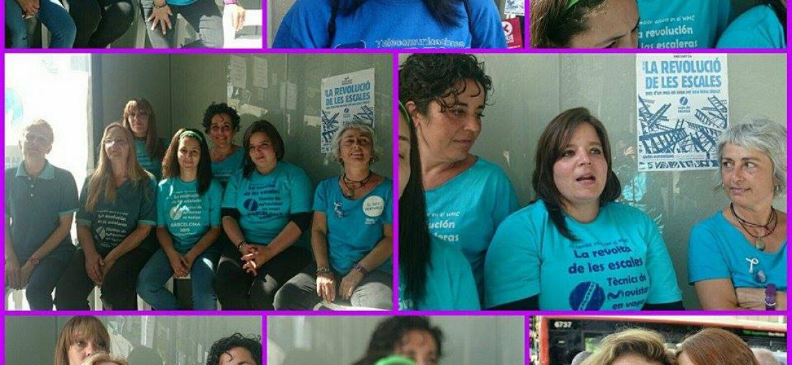 """Huelguistas Movistar: """"No somos esclavas. Somos mujeres trabajadoras"""""""