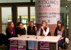 Mujeres trabajadoras organizadas contra la precariedad y el acoso laboral