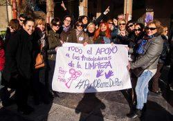 Gran acto de apoyo a las trabajadoras de la limpieza de Aragón
