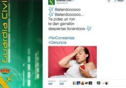Escandaloso tweet de la Guardia Civil, y la violencia machista no cesa