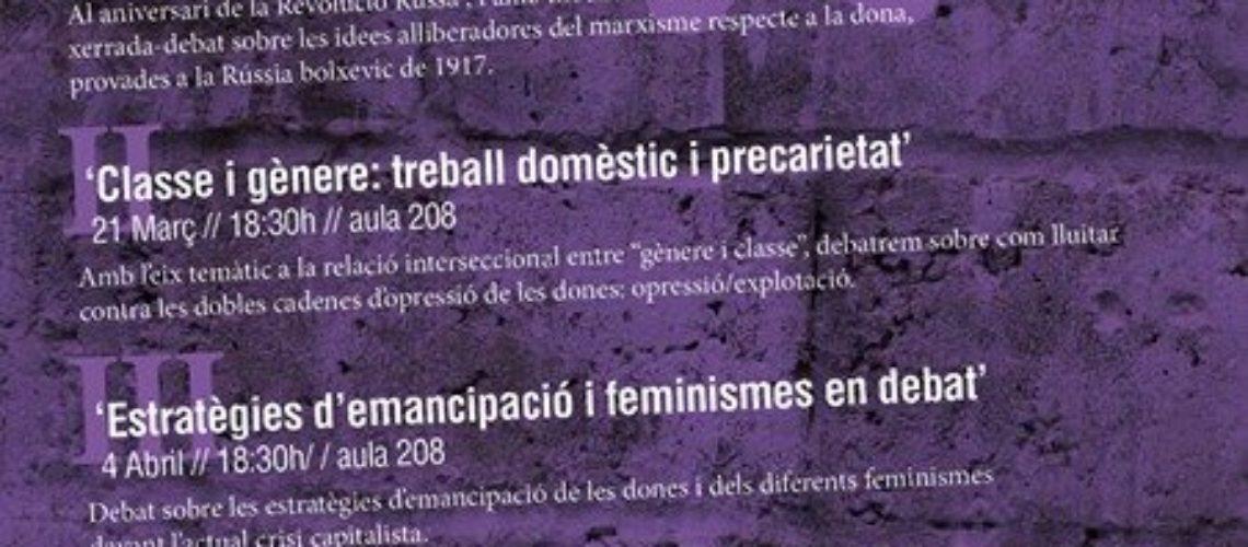 Ciclo 'Género y marxismo' en la UB