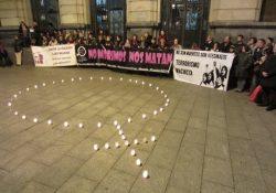 ¡Ni una menos! Concentración en Zaragoza tras el asesinato de una mujer a manos de su pareja
