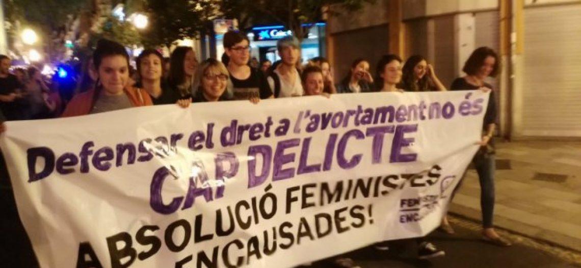 Juicio a seis activistas por una protesta contra la Ley del Aborto del PP