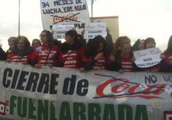 Las espartanas de Coca-Cola dispuestas a iniciar una huelga de hambre