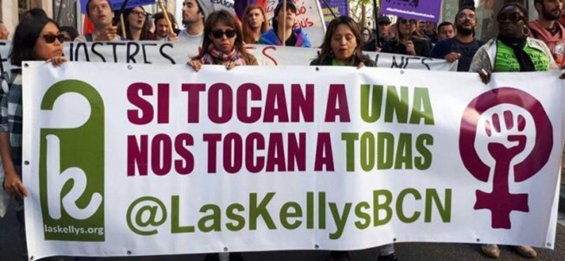Las Kellys marchan en la manifestación alternativa y unitaria del 1M