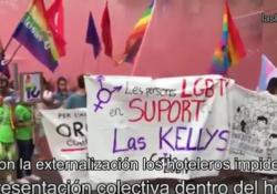 [Video] Crida LGTBI y Pan y Rosas con Las Kellys y no con los hoteleros