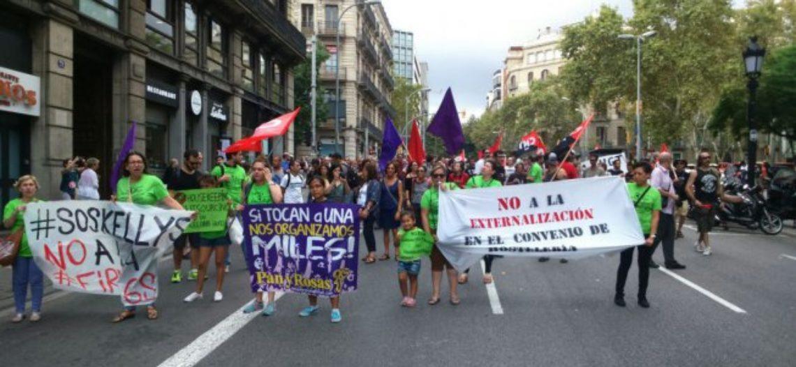 Las Kellys vuelven a las calles contra la firma del convenio de hostelería