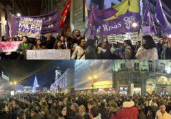 Masivas manifestaciones contra la violencia machista