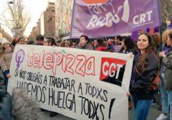 """""""El 8M vam parar a Telepizza contra la precarietat que viu la joventut"""""""
