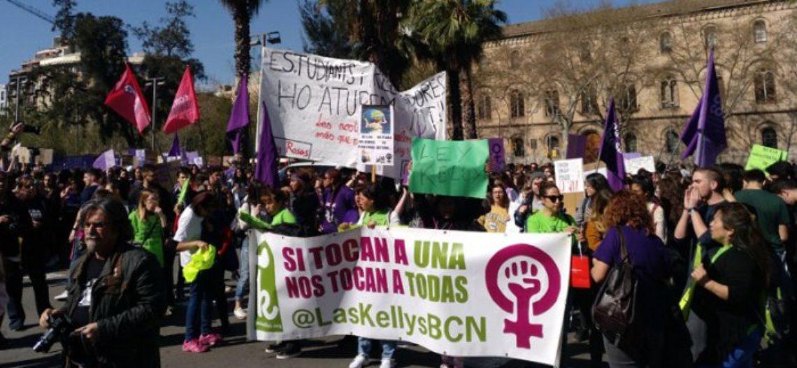 Las Kellys y estudiantes: la unidad que lo para todo este 8 de marzo