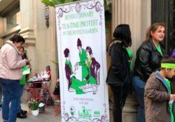 """Despedidas por sindicarse: protesta de Las Kellys con un """"Té revolucionario"""""""