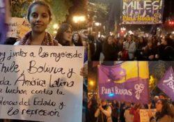 """25N Estado español: """"Hermana chilena, no dejes de luchar, que aquí estamos dispuestas a cruzarnos todo el mar"""""""