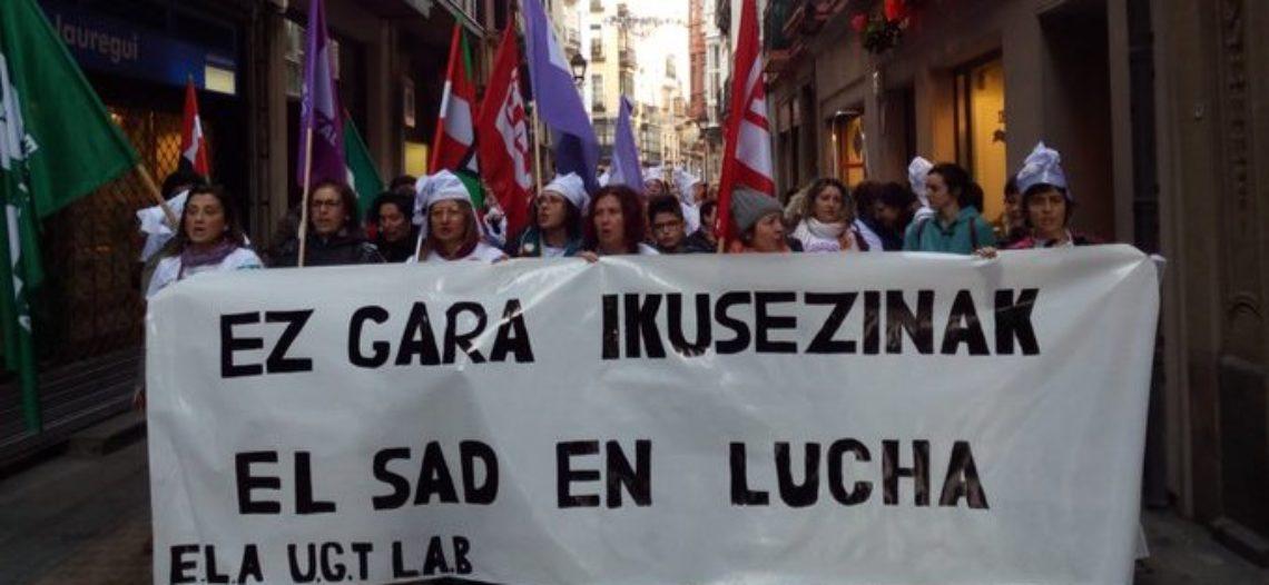 Fiestas en huelga para las trabajadoras de Gipuzkoa y Bizkaia: la crisis de cuidados en el centro