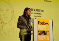 Irene Montero en el acto de Forbes: un feminismo liberal opuesto a las precarias