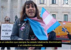 """Huelga de hambre por la Ley Trans: """"Aquí vamos a estar peleando hasta que la consigamos"""""""