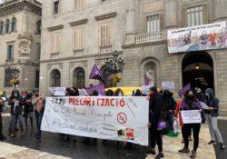 """Piquet Vaga 8M: """"Cap prohibició ens impedirà sortir als carrers contra el capitalisme i el patriarcat"""""""