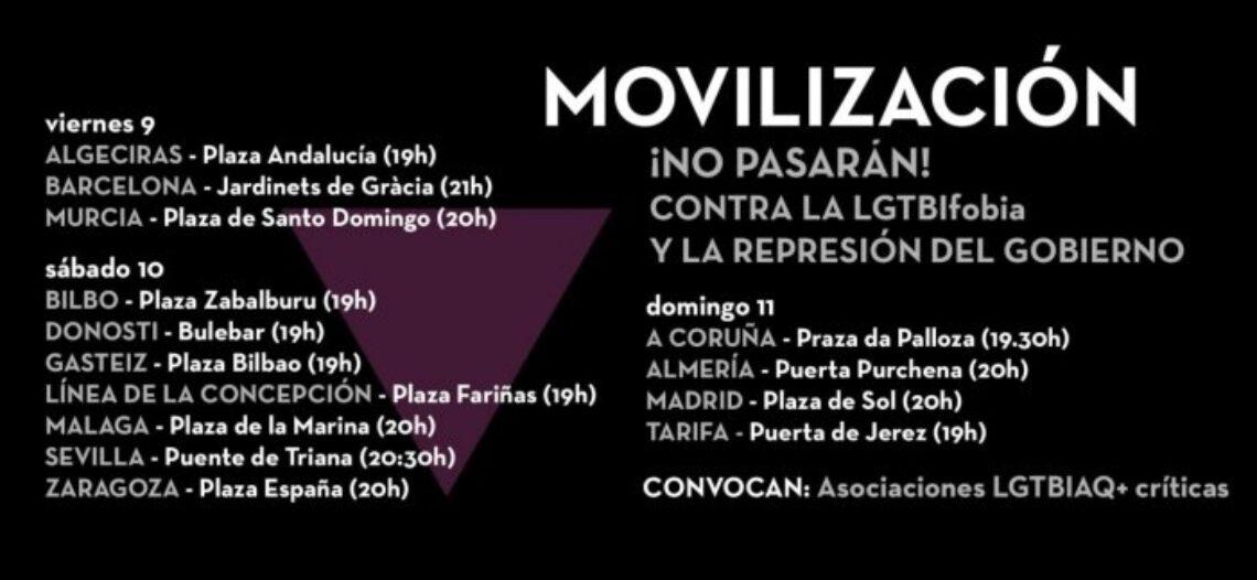 ¡Contra la LGBTIfobia y la represión del gobierno! Movilizaciones en todo el estado el fin de semana